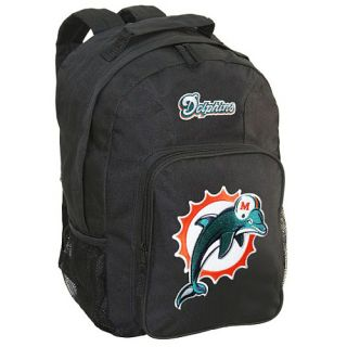 Concept One Miami Dolphins Southpaw Heavy Duty Logo Applique Black Backpack