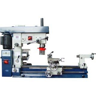 "Bolton Tools Combo Lathe Mill Drill 12"" X 30"", Separate Lathe & Mill Motors 3/4 Hp Each, 110v or 220v, Without Stand Similar Machines Don't Allow for Usage of Both Lathe & Mill Operation At the Same Time   Power Lathes"