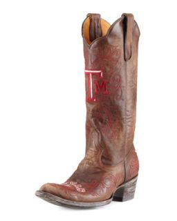 Texas A&M Tall Gameday Boots, Brass   Gameday Boot Company   Brass (40.0B/10.0B)