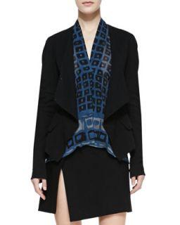Womens Wrap Jacket, Black   Donna Karan   Black (12)