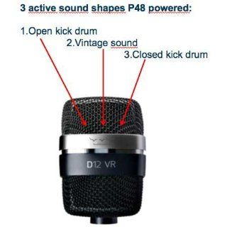 AKG Pro Audio D12VR Dynamic Kick Microphone for Drums: Musical Instruments