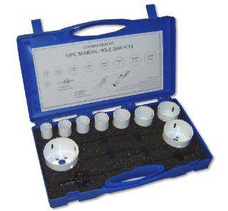 Bi Metal Hole Saw Kit 15 PC (9 HLSW, 2 Arbors, 4 Pilot Bits)   Hole Saw Set