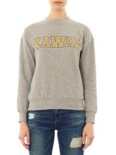 Kawaii slogan print sweatshirt  Être Cécile
