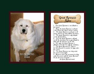 Dog Rules Great Pyrenees Wall Decor Pet Saying Dog Saying   Decorative Plaques