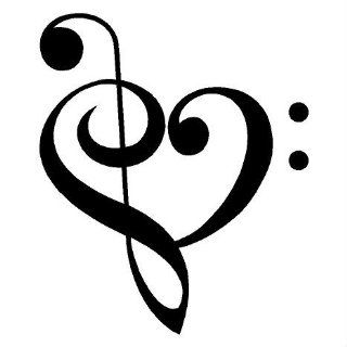 Music Heart decals wall saying vinyl lettering home decor decal stickers quotes