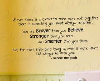 If Ever There is a Tomorrow Winnie the Pooh   Winnie the Pooh, Christopher Robin, Girl's or Boy's Room Kids Baby Nursery   Quote Decal, Decoration, Large Wall Saying, Lettering Sticker, Adhesive Vinyl Decor Art Mural Letters   Home Decor Product