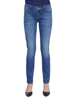 Womens Faded Coaster Jeans   Blank   Blue (24)