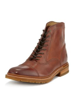 Mens James Balmoral Lug Boot, Redwood   Frye   Redwood (8.5D)