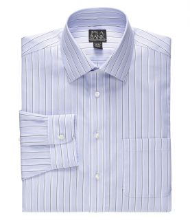 Traveler Spread Collar End on End Stripe Dress Shirt Big/Tall JoS. A. Bank