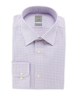 Mens Box Check Dress Shirt, Lavender   Ike Behar   Lavendar (16 1/2L)