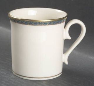 Lenox China Patriot (Gold Verge) Mug, Fine China Dinnerware   Green Band,Gold Ar
