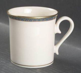 Lenox China Patriot (Gold Verge) Mug, Fine China Dinnerware   Green Band,Gold Ar