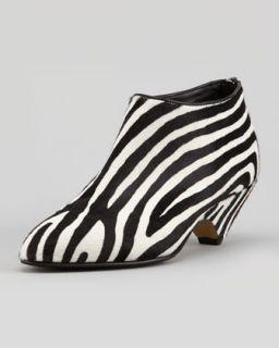 Zebra Print Calf Hair Bootie   Walter Steiger   Zebra (38.0B/8.0B)