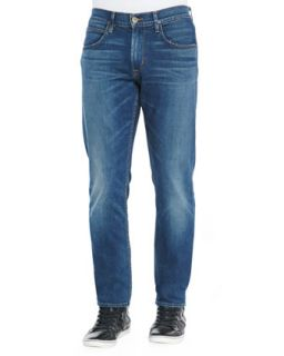 Mens Blake Slim Straight Denim Jeans, Blue   Hudson Jeans   Blue (34)