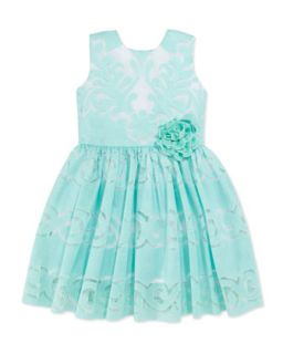 Sweet Lace Dress, Aqua, Toddler Girls 2T 3T   Halabaloo