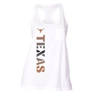 SOFFE Womens Texas Longhorns Pocket Racerback Tank Top   Size: Small, White