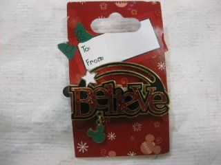 "Disney Pin Collection Christmas Pin Says ""Believe"" 2008: Toys & Games"