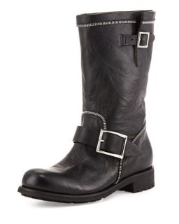 Dakar Double Buckle Zip Boot, Black   Jimmy Choo   Black (36.5B/6.5B)
