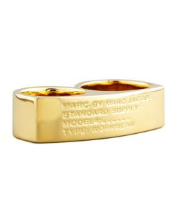 Standard Supply Double Ring, Golden   MARC by Marc Jacobs   Gold (S/M)