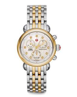 CSX 36 Diamond Gold Watch Head   MICHELE   Gold