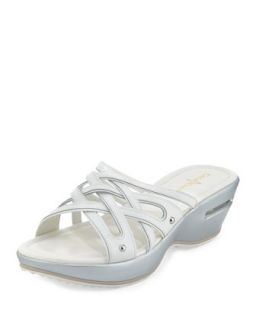 Air Ezra Strappy Wedge, White   Cole Haan   White (36.0B/6.0B)