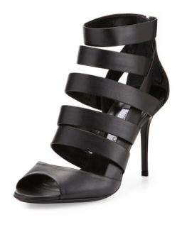 Duran Strappy Caged Bootie, Black   Jimmy Choo   Black (36.5B/6.5B)