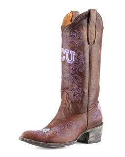 TCU Tall Gameday Boots, Brass   Gameday Boot Company   Brass (39.5B/9.5B)