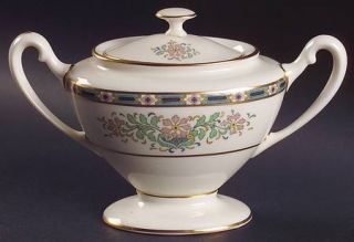 Lenox China Mystic Shape 743 Sugar Bowl & Lid, Fine China Dinnerware   Multicolo