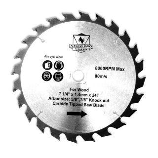 Neiko Pro 10815B 7 1/4 Inch x 40T Carbide Tipped Saw Blade with 5/8 Inch Arbor for Ferrous Metals   Circular Saw Blades