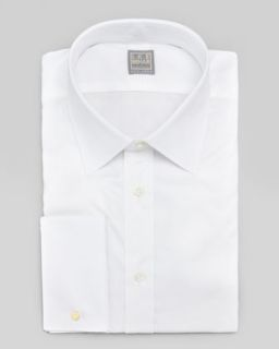 Mens French Cuff Dress Shirt, White   Ike Behar   White (16 1/2R)