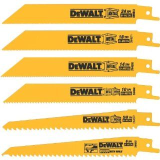 DEWALT DW4856 6 Piece Metal/Woodcutting Reciprocating Saw Blade Set