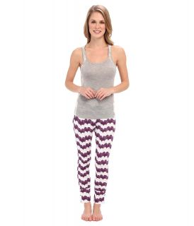 40 Winks Tank Top Legging Set Womens Pajama Sets (Gray)