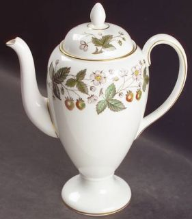 Wedgwood Strawberry Hill Coffee Pot & Lid, Fine China Dinnerware   Strawberries/