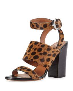 Leopard Print Calf Hair City Sandal   Givenchy   Leopard (41.0B/11.0B)