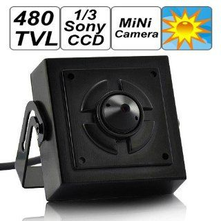SecurityIng   Mini Surveillance Pinhole Security Camera, 1/3 Inch Sony CCD Sensor, 480 TV Lines, Covert CCTV Surveillance Camera Can Be Hidden Anywhere In Home / Office : Spy Cameras : Camera & Photo