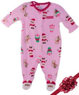 "Carter's ""My First Christmas"" Footie Pajama Set, Color: Pink, Size: 3 6 months: Infant And Toddler Sleepers: Clothing"