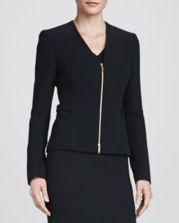 Womens Betha Golden Zip Front Jacket   Lafayette 148 New York   Black (10)