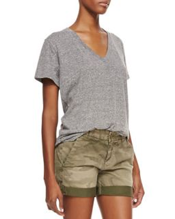 Womens Slub V Neck Tee   Current/Elliott   Heather grey (1)