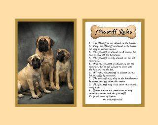 Dog Rules Mastiff Wall Decor Pet Saying Dog Saying   Decorative Plaques