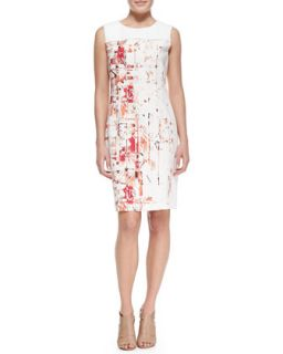 Womens Dakota Sleeveless Hieroglyph Print Dress   T Tahari   Blossom (8)
