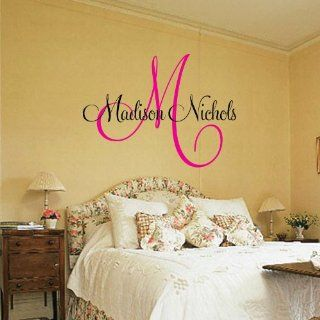 Personalized Last Name and Est Date Vinyl Wall Art Vinyl Lettering Vinyl Saying Wall Decal Madison   Wall Decor Stickers