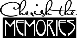 CHERISH THE MEMORIES Inspirational Family Nursery Vinyl Wall Art Vinyl Wall Art Saying Quote Decal Graphics Matte Black   Wall Decor Stickers