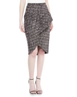 Womens Tweed Peplum Skirt, Smoke   Badgley Mischka   Smoke (4)