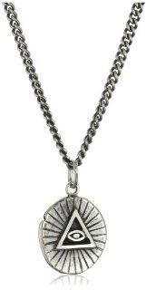 "King Baby All Seeing Eye ""Coin"" Men's Pendant Necklace: Illuminati Necklace: Jewelry"