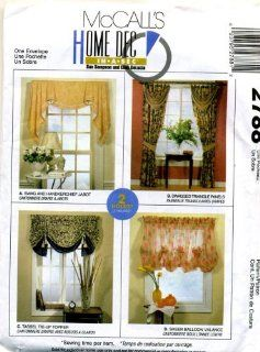McCall's Home Dec in a Sec Swag, Valance and Curtain Sewing Pattern