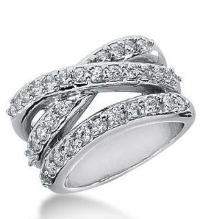14k Gold Diamond Anniversary Wedding Ring 36 Round Brilliant Diamonds 1.48 ctw. 340WR148414K: Wedding Bands Wholesale: Jewelry