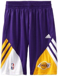 NBA Los Angeles Lakers On Court Pre Game Short, Small : Sports Fan Shorts : Sports & Outdoors