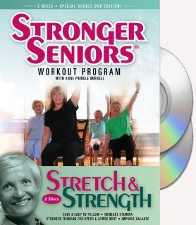 Stronger Seniors� Chair Exercise Program  2 disc Chair Exercise Program  Stretching, Aerobics, Strength Training, and Balance. Improve flexibility, muscle and bone strength, circulation, heart health, and stability. Developed by Anne Pringle Burnell Anne
