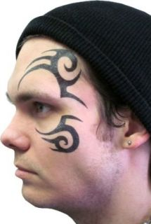 Tribal Face Temporary Tattoo As Seen on Stu in Hangover 2: Clothing
