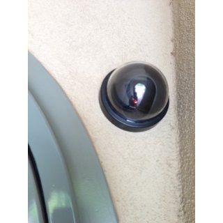 SE FC9955 Dummy Security Camera with Dome Shape and 1 Red Flashing Light : Fake Security Camera : Camera & Photo